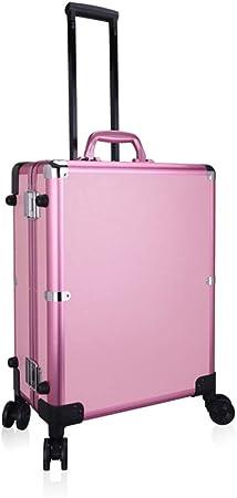 Z-Case@ Portátil Belleza Maleta Maquillaje Estuche De Trolley Viaje Caja De Tren con LED/Espejo Estuche para Cosméticos,Pink: Amazon.es: Hogar