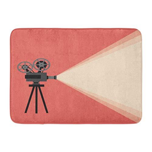 "Emvency Bath Mat Film Filmmaking Movie Projector Concept Cinema Vintage Your Design Camera Screen Bathroom Decor Rug 16"" x 24"""