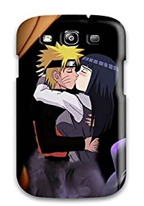Galaxy S3 Case Cover - Slim Fit Tpu Protector Shock Absorbent Case (naruto And Hinata)