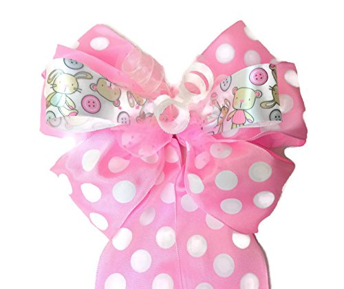 Amazon Com Pink White Gift Bow Baby Shower Bow Bridal Shower Bow