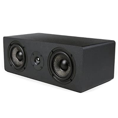 Micca MB42X-C Center Channel Speaker With Dual 4-Inch Carbon Fiber Woofer and Silk Dome Tweeter (Black, Each) by Team Wise Holdings Limited - Direct Import FOB