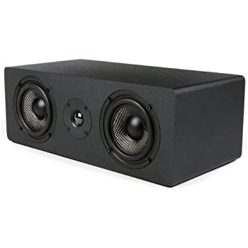 Micca MB42X-C Center Channel Speaker With Dual 4-Inch Carbon Fiber Woofer and Silk Dome Tweeter (Black, Each)