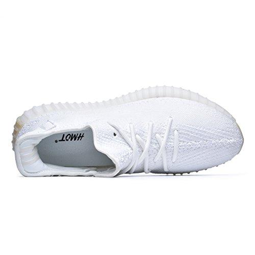 Aumern Mens 350 V2 Sneakers Leggere Scarpe Da Corsa Snaeker-bianche