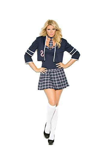 Hot Spot Plus Size Women's Tempting School Girl Costume Navy/Plaid -