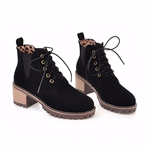 grit with Martin the boots Terry Autumn pure short front women's Black winter boots and color with of the wPtCx6Aqt