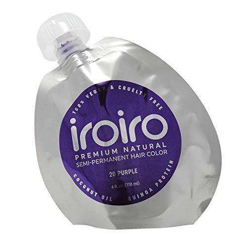 IROIRO Premium Natural Semi-Permanent Hair Color 20 PURPLE (4oz) (Hair Dye That Doesn T Require Bleach)