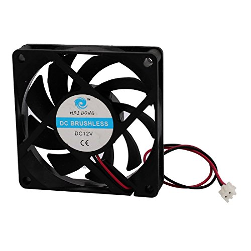 uxcell DC 12V 0.32A 9 Vanes PC CPU Computer Cooling Fan 70mm x 70mm x 15mm