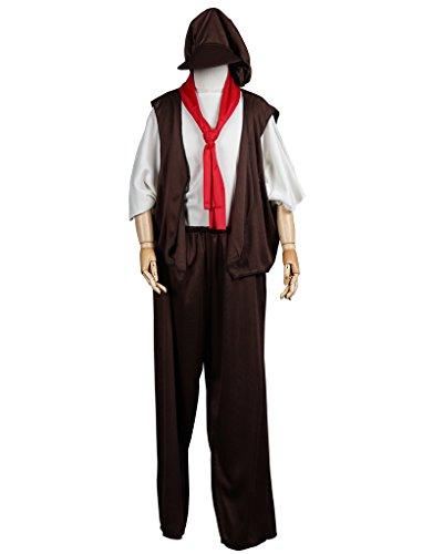 Fantast Costumes Boy Victorian Halloween Costumes (Brown, S)