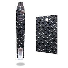 Innokin iTaste VV V3.0 Vape E-Cig Mod Box Vinyl DECAL STICKER Skin Wrap / Black Diamond Plate Sheet Metal with Grooves