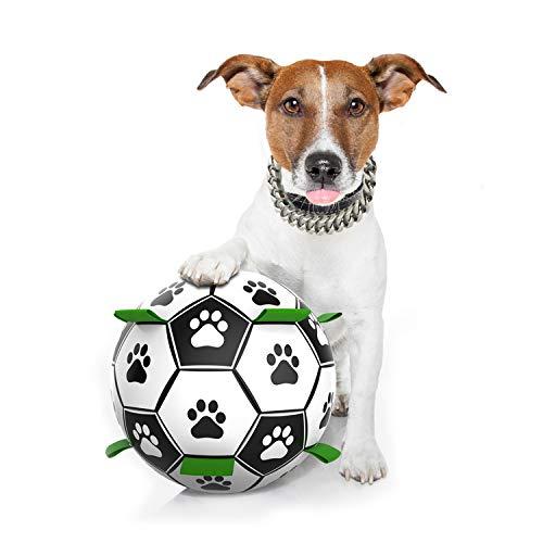 Hundefußball mit Luftpumpe, sicher und umweltfreundlich, verschleißfest und bissfest, interaktives Spielzeug, geeignet…