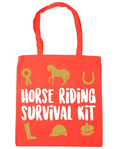 litres survival HippoWarehouse Shopping Tote 10 42cm Bag Horse kit Beach x38cm riding Coral Gym qHSwH7Egx