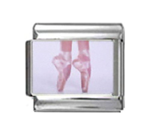 Stylysh Charms Ballet Pointe Ballerina Shoes Photo Italian 9mm Link MD007