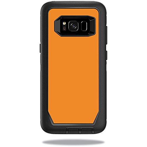 MightySkins Protective Vinyl Skin Decal for OtterBox Defender Samsung Galaxy S8 Case sticker wrap cover sticker skins Solid Orange