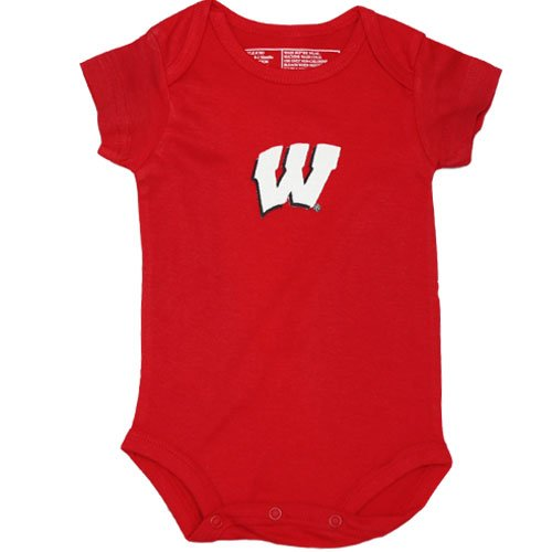 University of Wisconsin Badgers Newborn Baby Bodysuit,Red,3-6 Months