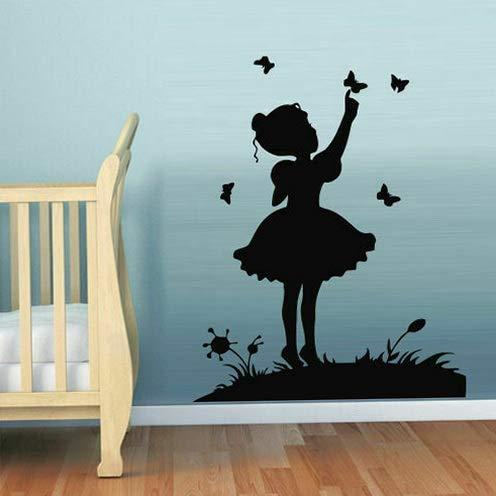 Tomikko Wall Decal Sticker Vinyl Girl Butterfly Tour Flower Glade Decor M614 | Model DCR - 329