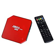 M8S Plus 2G/16G Smart TV Box 1000M Ethernet XBMC Android 5.1 Amlogic S905 Quad Core 5G WiFi Bluetooth HDMI - Red