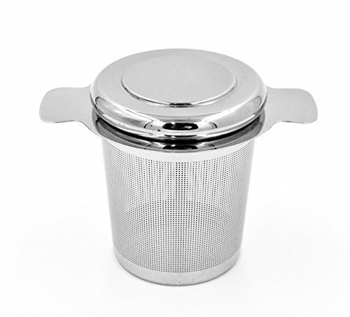 Riku Tea Infuser Strainer Extra-Fine Brew-in-Mug with Lid for Loose Leaf Teas 304 Stainless Steel by RIKU