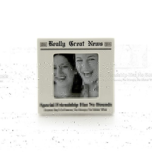- Enesco Really Great News by Lorrie Veasey Friends Photo Frame, 4.13-Inch