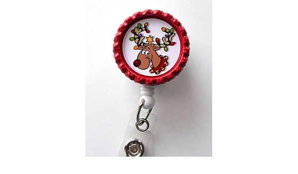 Christmas Lights Reindeer Badge Reel