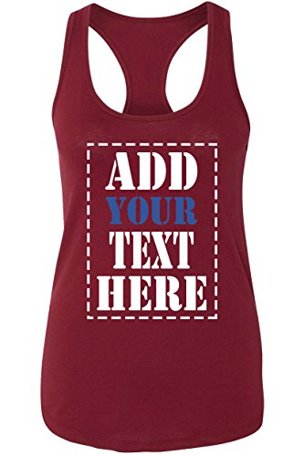 Custom Tank Tops for Women - Design Your Own Racerback Tank Top - Customized & Personalized Tanktops with Text