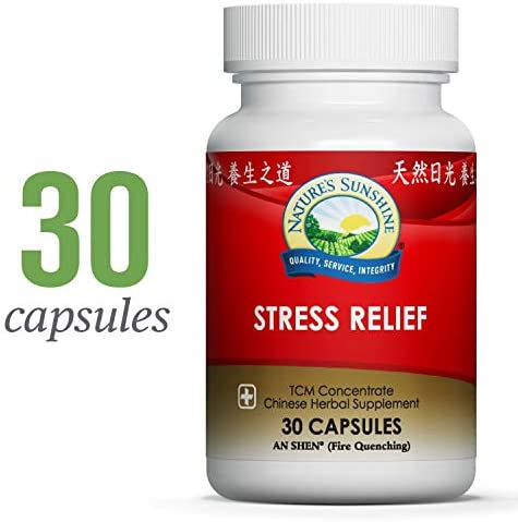 Nature s Sunshine Stress Relief, Chinese TCM Concentrate, 30 Capsules Nourishes The Nervous System, May Optimize Gastric Function, and Supports Circulatory Health