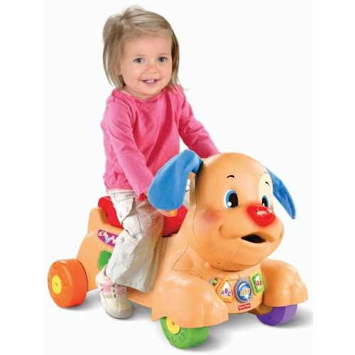 Durable Modeling Fisher Price Laugh Learn Stride To Ride Puppy