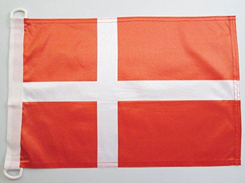 AZ FLAG Pavillon Nautique Danemark 45x30cm Drapeau de Bateau Danois 30 x 45 cm