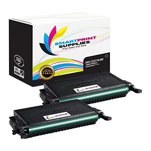 Smart Print Supplies Compatible CLT-K609S CLT-609S Black Toner Cartridge Replacement for Samsung CLP-770ND 775ND Printers (7,000 Pages) - 2 Pack ()