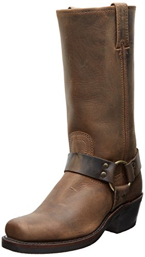 FRYE Women's Harness 12R Boot, Tan Crazy Horse, 8.5 M US (Frye Harness Boots)