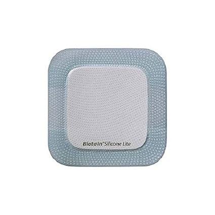 Compresa cuadrada de espuma absorbente y de Kliniderm de 12,5 x 12,5