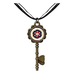 Chicforest Bronze Retro Style US Memorial Day Remembrance Key to Her Heart Pendant