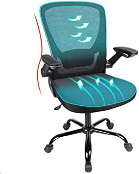 Komene Mesh Mid Back Computer Chair With Lumbar Support