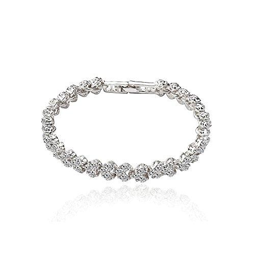 Bracelets for teen girls silver bracelet models zircon crystal female jewelry Beaded Jelly Bracelet