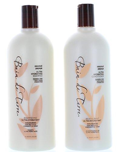 Bain de Terre Coconut Papaya Ultra Hydrating Shampoo & Conditioner, 2 Count