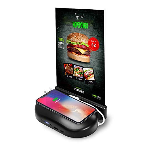 PowerSign QI Wireless Mobile Charger Menu Holder for Restaurant/Hotels