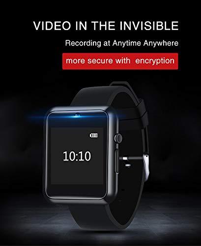 HKPLDE Smart Watch/Photo Watch / 1080P Sports Video Touch Operation Multiple Application Scene DV Camera Watch-Black