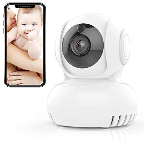 (Baby Monitor, i-Star Wireless IP Camera - Alexa Enabled, 720P Digital Home Security Camera, Built-in Lullaby, Room Temperature Alert, Night Vision, Works with Both Android & IOS )