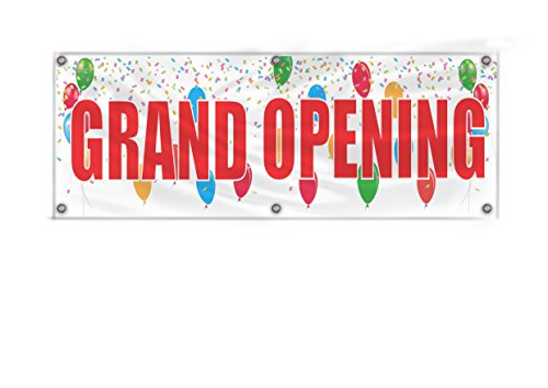 Grand Opening Banner, 36''X120'' Heavy Duty Vinyl Banner With Grommets(Many Sizes Available) (Banner Outdoor Opening)