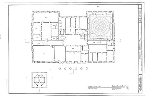 Historic Pictoric Blueprint Diagram HABS NY,24-Brok,42- (Sheet 5 of 11) - Brooklyn City Hall, 209 Joralemon Street, Brooklyn, Kings County, NY 44in x - City Hall Brooklyn