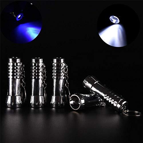 - 1pcs Dual-use UV Ultra Violet LED Flashlight Blacklight Light Inspection Lamp Torch Multifunction Key Chain
