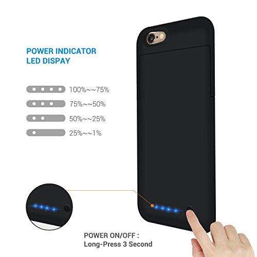 3200mAh Custodia Cover Batteria iPhone 6 / iPhone 6S ,Chnano Esterno di Case del Caricabatteria Portatile Cover per iPhone 6S / 6 4.7 - Nero
