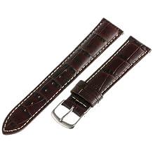 Hadley-Roma Men's MSM834RB-180 18mm Brown Genuine Italian Calfskin Leather Watch Strap