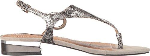 Metal Python Stone Print Silver Lacie TA Suede Sandal Tahari Women's Flat w0xY8zn4p6