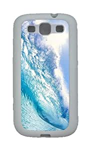 Blue Wave Custom TPU Rubber Soft Case and Cover for Samsung Galaxy S3 /S III White