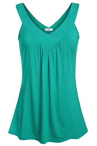 Ninedaily Womens Flowy Blouses, Clothes for Work Office Fashion 2018 Summer Business Casual Appearl Cute Blouse for Ladies Aquamarine Size (Aqua Juniors Tank Top)
