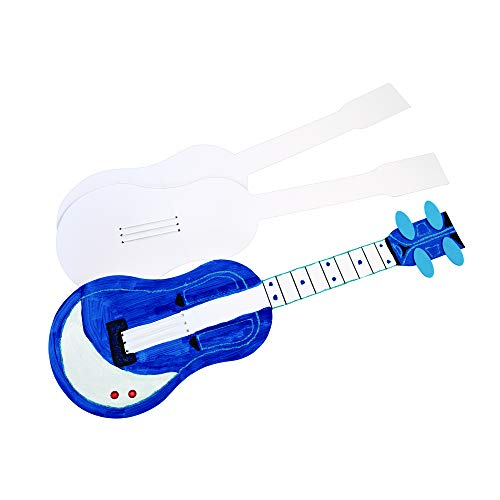 Colorations Decorate Your Own Guitars Set of 12 Guitars for Kids (26-1/2