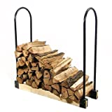 Sunnydaze Steel Adjustable Firewood Log Rack Bracket Kit- Adjusts Up to 16 Feet Wide
