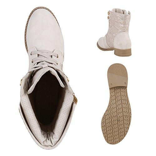 Stiefelparadies - Botas de Material Sintético para mujer Beige