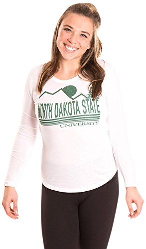 Alma Mater NCAA North Dakota State Women's Long Sleeve T-Shirt, Medium, White