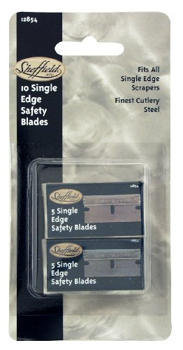 Sheffield Tools 12854 Safety Scraper Blades, 10 Pack